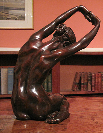 Dancer Stretching in bronze