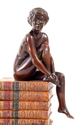 Merry in bronze. Last available from an edition of 50